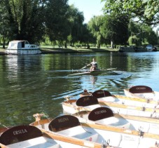 Rowing Boats on the Avon