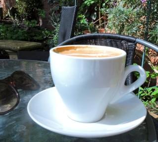 Coffee at The Garden Cafe, Stratford upon Avon